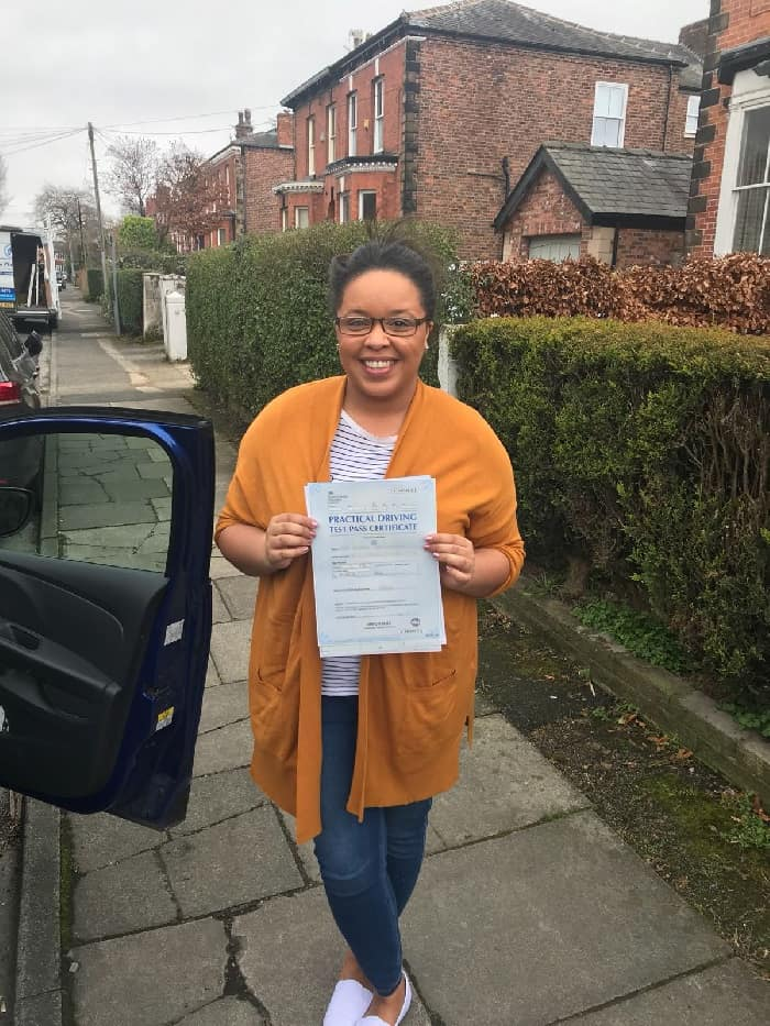 Leah driving test pass photo