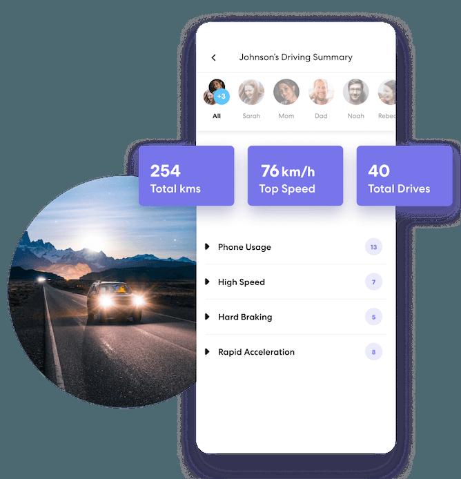 Life360 family driving summary