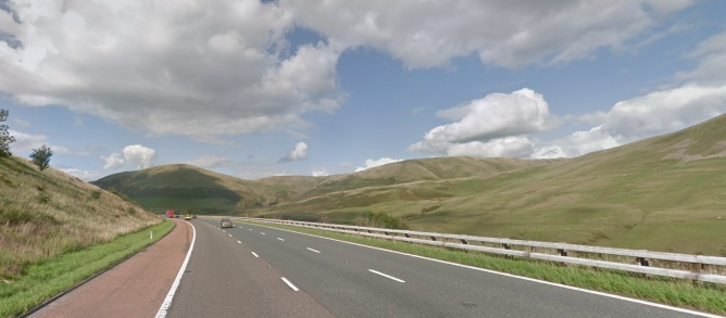 Section of the M6 in Cumbria