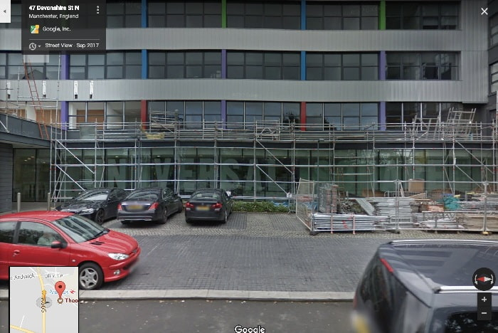 Street view outside Manchester theory test centre