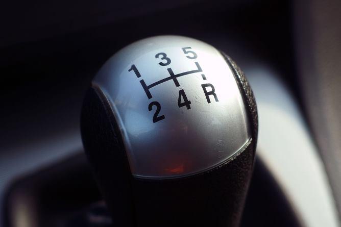 A manual gearstick