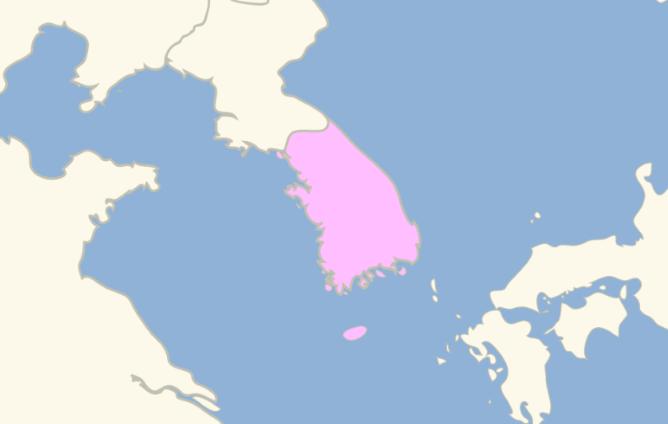 Map of South Korea