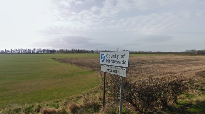 Merseyside county sign