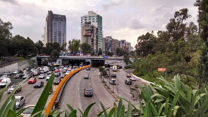 Freeway leading into Mexico City