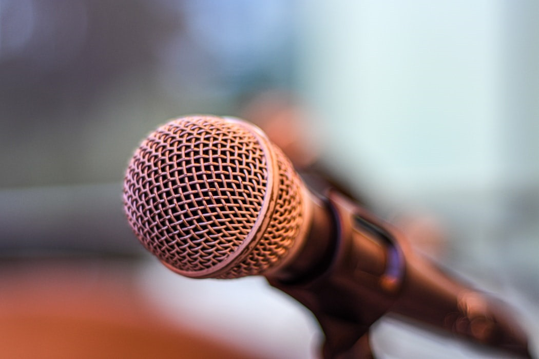 Close up image of a microphone