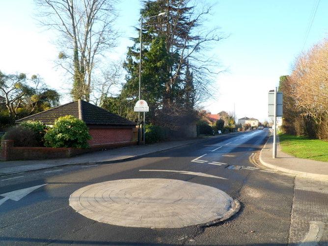 A mini roundabout