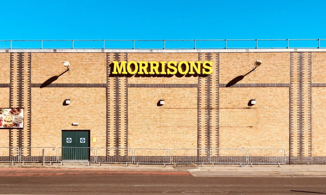 Facade of a Morrisons supermarket in London