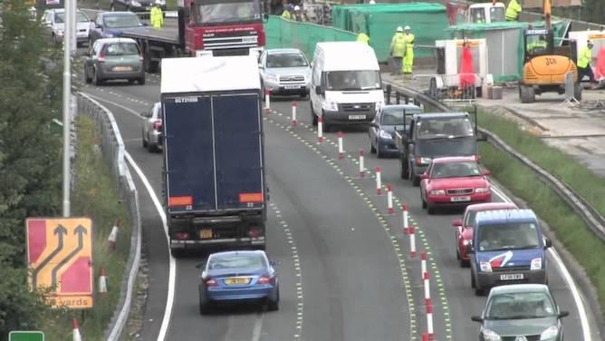 Motorway contraflow system