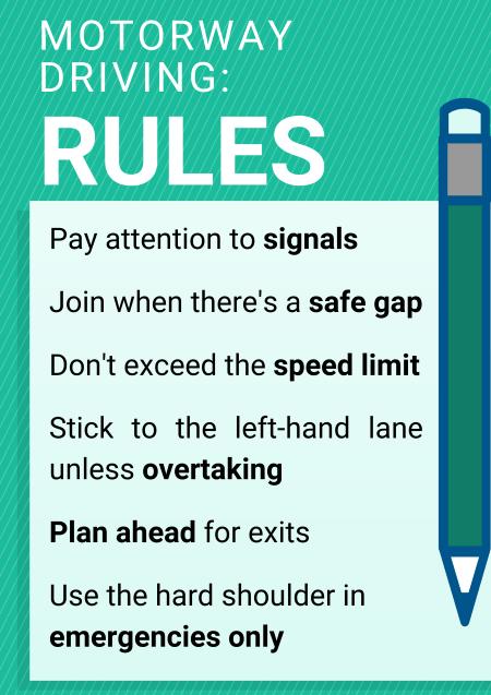 Motorway driving rules
