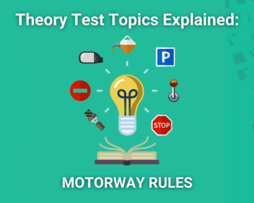 theory test topic motorway rules