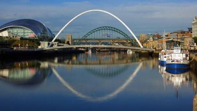 Millennium and Tyne Bridges in Newcastle