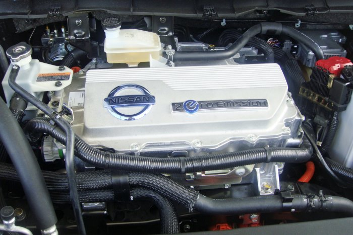 An electric motor from a Nissan Leaf