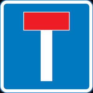 No through road sign