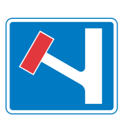 No through road for traffic road sign