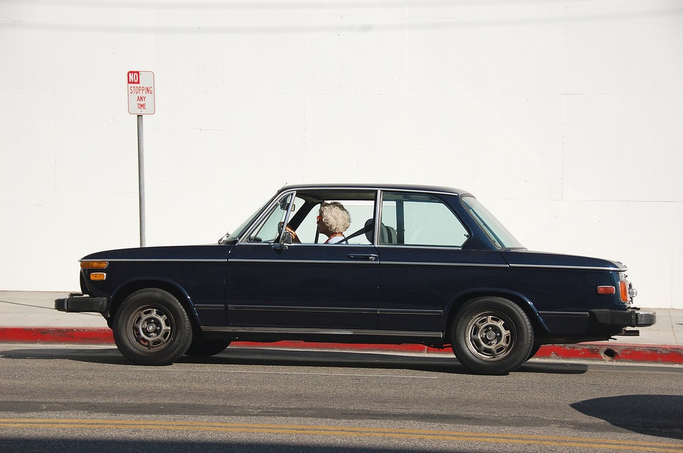 Old person driving