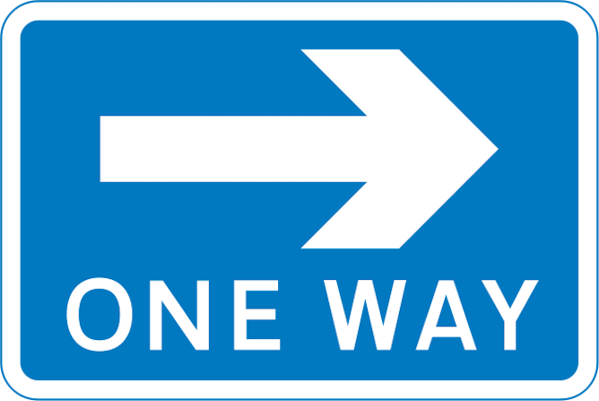 One way UK road sign