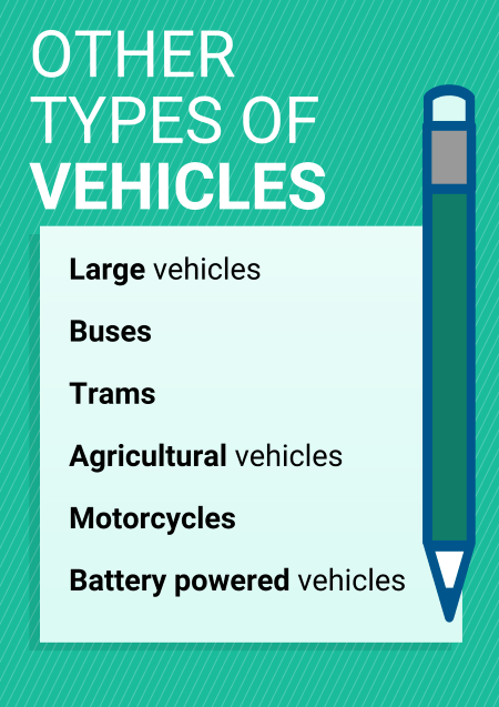 List of other types of vehicles