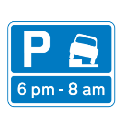Park on verge road sign