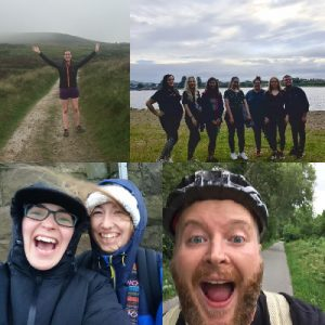 Collage of PassMeFast staff members completing charity walks