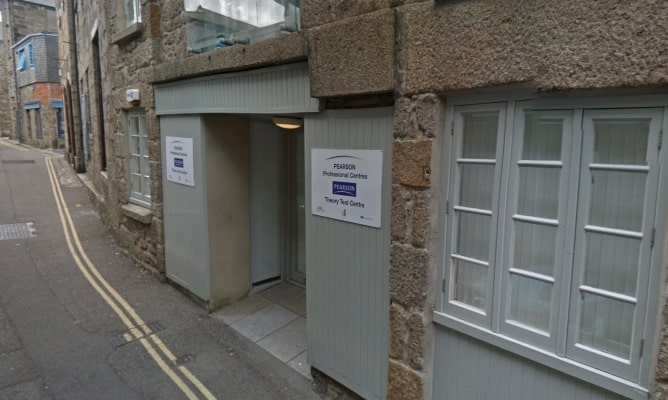 Penzance theory test centre entrance