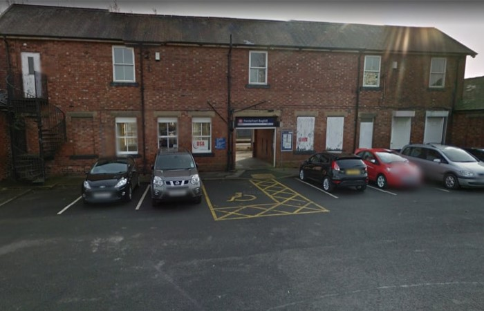 Close up streetview image of Pontefract test centre