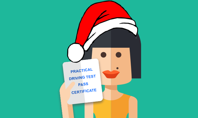 Practical test certificate Christmas