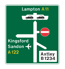 Primary route road sign