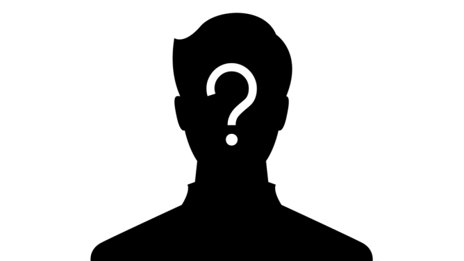 Silhouetted figure with a question mark superimposed
