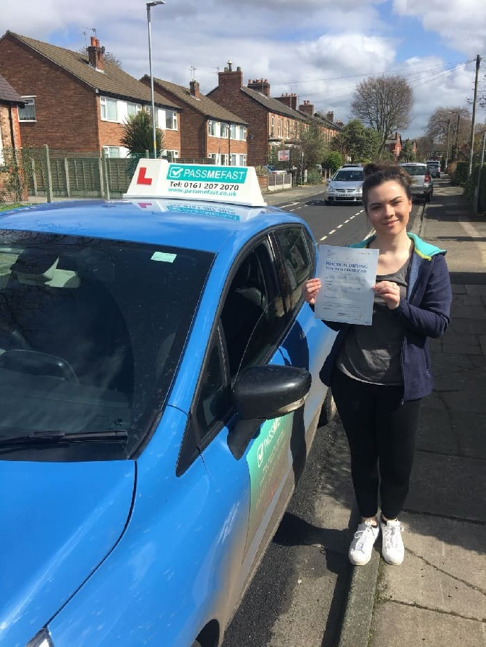 Rebecca driving test pass photo