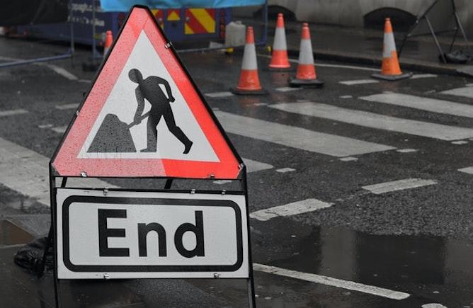 End of roadworks sign