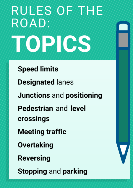 Rules of the road topics
