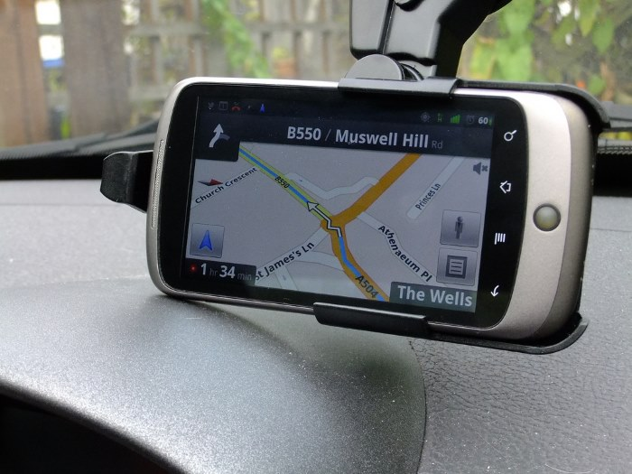 What model sat nav will be used in the driving test?