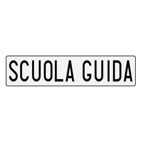 Scuola Guida plate used by Italian driving schools I