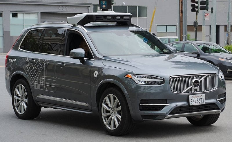 Self-driving Volvo operated by Uber