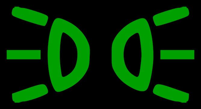 Sidelight symbol