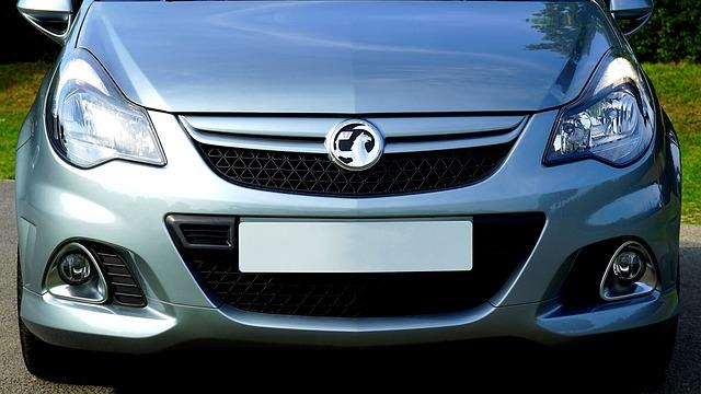 Silver Vauxhall Corsa bonnet
