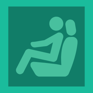 Diagram of driver sitting correctly