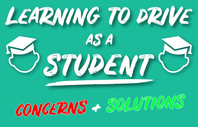 Learning to drive as a student