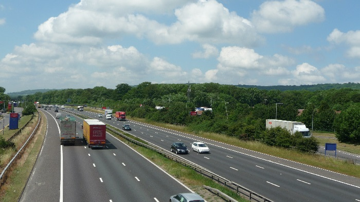 M25 motorway in Surrey