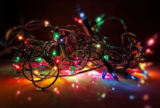 Tangled fairy lights