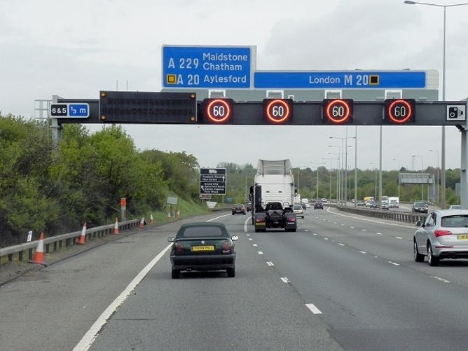 Temporary speed restrictions on the M20