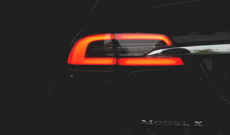 Tail light of Tesla Model X