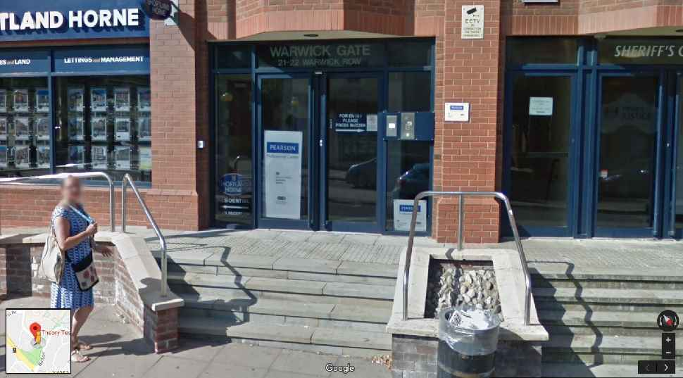 Entrance to Coventry theory test centre