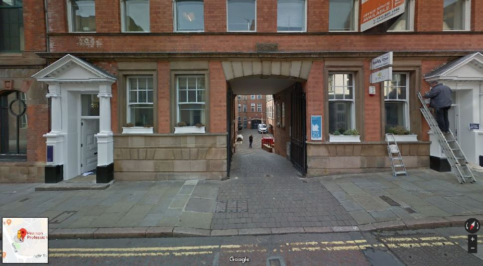 Entrance to Nottingham theory test centre
