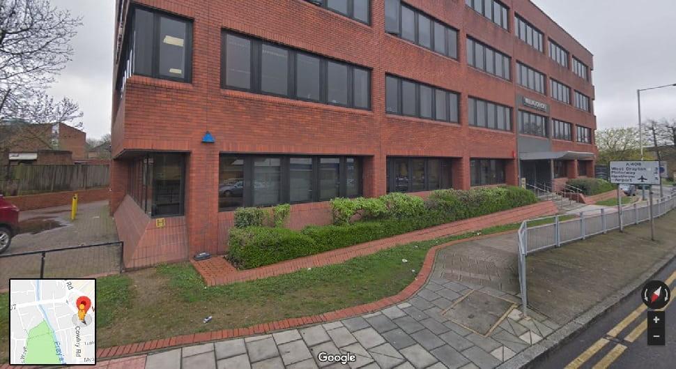 Entrance to Uxbridge theory test centre