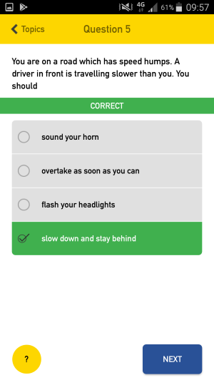Theory Test Pro mobile hazard perception screenshot