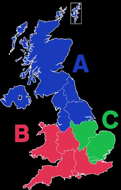 Theory test regions