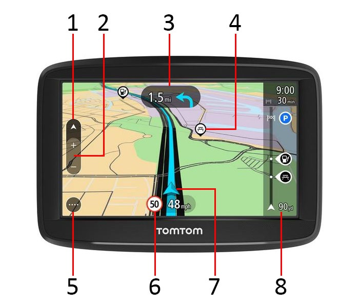 TomTom Start 52 screen