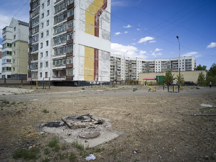 Unpaved ground in Ulaanbaatar