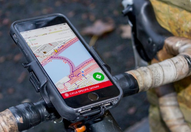 A dedicated GPS app on a smartphone